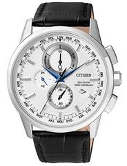 Citizen Orologio da polso da uomo radio Controlled Cronografo quarzo pelle